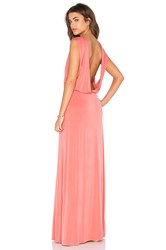 Hoss Intropia Open Back Maxi Dress Blush