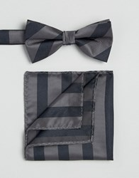 Selected Homme Tie And Pocket Square Navy