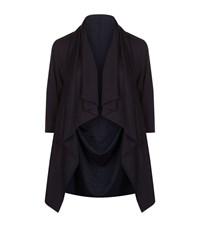 Armani Collezioni Waterfall Collar Cardigan Female Black