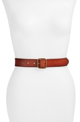 Lucky Brand 'The Point' Leather Belt Cognac
