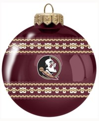 Memory Company Florida State Seminoles Ugly Sweater Ball Ornament Maroon