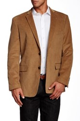 Us Polo Assn. Tan Corduroy Modern Fit Two Button Notch Collar Double Vent Sport Coat Brown