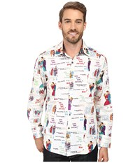 Robert Graham Christmas Love Long Sleeve Woven Shirt Multi Men's Clothing