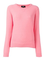 A.P.C. 'Fac' Jumper Pink Purple