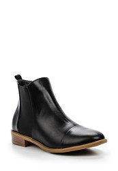 Lost Ink Arin Elastic Gusset Ankle Boots Black