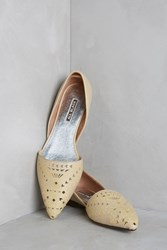All Black D'orsay Flats Beige