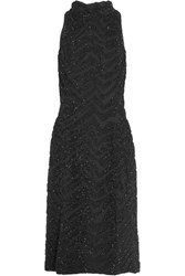 Topshop Unique Lorne Crystal Embellished Silk Georgette Midi Dress Black