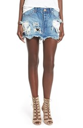 Women's One Teaspoon 'Junkyard' Distressed Denim Skirt Austyn