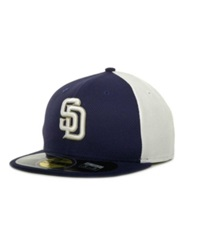 New Era San Diego Padres Diamond Era 59Fifty Hat Lightnavy White