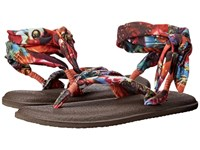 Sanuk Yoga Slinged Up Prints Coral Peacock Women's Sandals