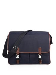 Dunhill Guardsman Flap Messenger Bag Navy