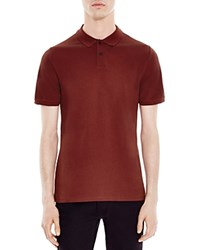 Sandro Knit Slim Fit Polo Burgundy