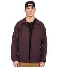Converse Cons Coaches Jacket Black Cherry Men's Coat Burgundy