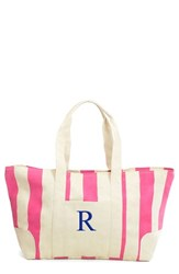 Cathy's Concepts Personalized Stripe Canvas Tote Pink Pink R