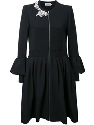 Preen By Thornton Bregazzi Embellished Ruffled Shirt Dress Black