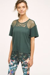 Anthropologie Adidas By Stella Mccartney Mesh Tee Green