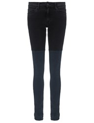 Surface To Air Two Tone Skinny Jeans Grey