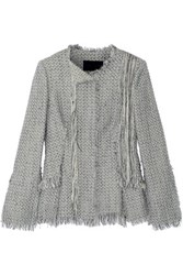 Proenza Schouler Frayed Tweed Jacket Gray