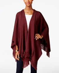 Styleandco. Style Co. Fringe Wrap Poncho Only At Macy's Dried Plum