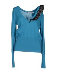 Frankie Morello Sweaters Turquoise