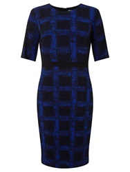 Boss Logo Boss Check Dress Black Blue