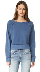 Rag And Bone Indigo Raw Edge Pullover