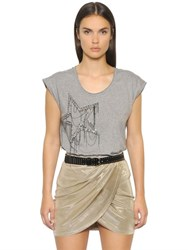 Just Cavalli Embellished Cotton Jersey T Shirt