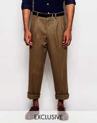 Reclaimed Vintage Wool Military Trousers Green
