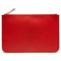 Mulberry Blossom Small Leather Pouch Fiery Spritz