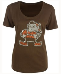 47 Brand '47 Women's Cleveland Browns Lux Sequins Scoop T Shirt