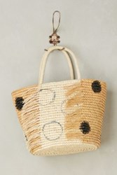 Anthropologie Frayed Dot Tote Neutral