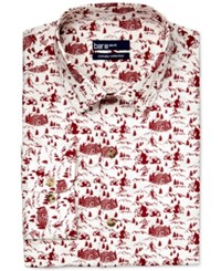 Bar Iii Carnaby Collection Slim Fit Ski Resort Print Dress Shirt Only At Macy's Burgundy