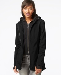 Dkny All Weather Soft Shell Jacket With Vest Black