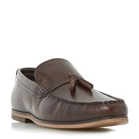 Linea Rollow Tassel Detail Loafer Shoes Brown