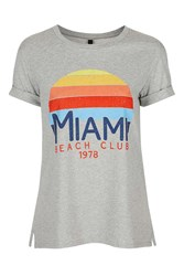 Nobody's Child Miami Beach Tee By Grey