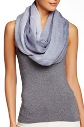 Blue Pacific Two Tone Ombre Gauze Infinity Scarf Blue