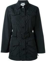 Aspesi Single Breasted Trench Coat Black