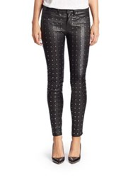 Rag And Bone Hyde Leather Studded Skinny Jeans Black Leather Stud