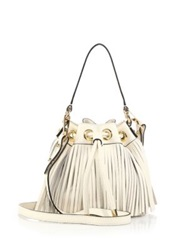 Milly Essex Small Fringed Hobo Bag Grey