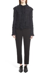 Women's Lanvin Fringe Trim Tweed Cardigan