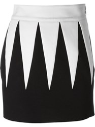 Fausto Puglisi Two Tone Fitted Mini Skirt Black