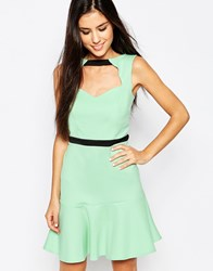 Lashes Of London Pephem Dress With Cut Out Front Mint