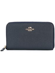 Coach Zip Around Wallet Blue
