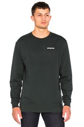 Patagonia P 6 Logo Long Sleeve Tee Green