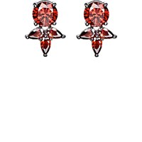 Fallon Women's Monarch Pointed Cluster Stud Earrings Red