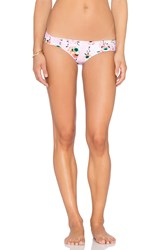 Seafolly Cabana Rose Ruched Side Pant Bottom Pink