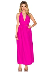Amanda Uprichard Mercer Halter Maxi Dress Pink
