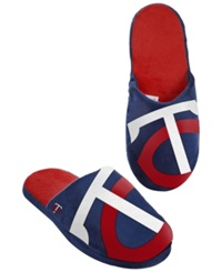 Forever Collectibles Men's Minnesota Twins Big Logo Slippers Navy Red