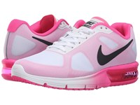 Nike Air Max Sequent White Black Pink Blast Women's Running Shoes