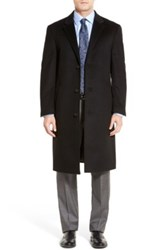 Hart Schaffner Marx 'Sheffield' Classic Fit Wool And Cashmere Overcoat Black